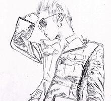 SHINee's Jonghyun: Everybody era Pen drawing by nomeremortal