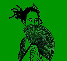 """Geisha Girl"" (green)  - phone by Michelle Lee Willsmore"
