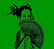 """Geisha Girl"" (green)  - phone by Michelle Lee Willsmore"