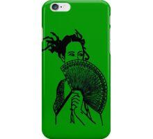 """Geisha Girl"" (green)  - phone iPhone Case/Skin"