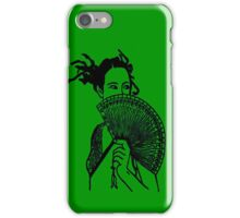 """Geisha Girl"" (green)  - phone iPhone Case/Skin"