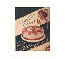 Cake Decorator Art Print