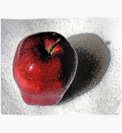 Red Delicious Watercolor Poster
