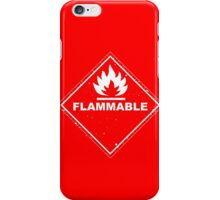Red Barrels Explode - Flammable iPhone Case/Skin