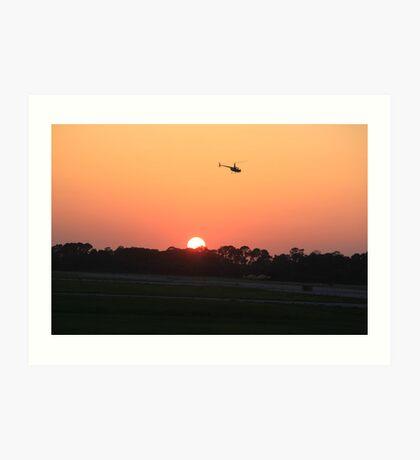 Sunset Flight Art Print
