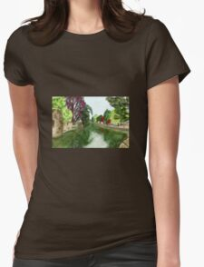 Wells, Somerset, Down by the River Womens Fitted T-Shirt