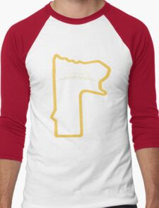 Mount Panorama Bathurst race circuit map Men's Baseball ¾ T-Shirt
