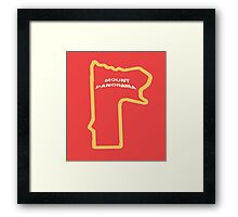 Mount Panorama Bathurst race circuit map Framed Print