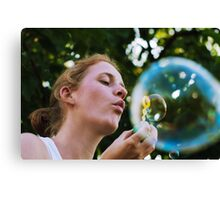 Bubble in a bubble Canvas Print
