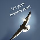 Let Your Dreams Soar! Seagull Version 2 by Corri Gryting Gutzman