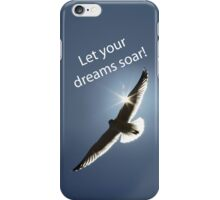 Let Your Dreams Soar! Seagull Version 2 iPhone Case/Skin