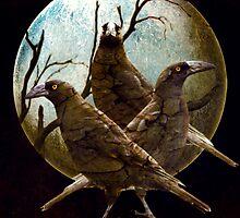 Full Moon In Tasmania by Diane Johnson-Mosley