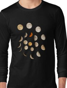 Phases of the Moon Spiral Long Sleeve T-Shirt
