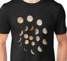 Phases of the Moon Spiral Unisex T-Shirt
