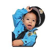 Sassy Policeman Photographic Print