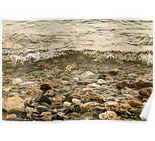 Sea and pebbles - Lesvos Island Poster