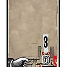 Dada Tarot- 3 of Swords by Peter Simpson