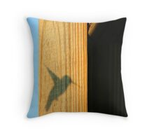 Ruby Throated Hummingbird Shadow Throw Pillow