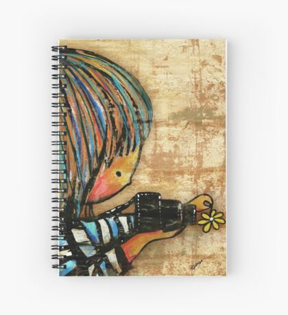 smile baby macro photography Spiral Notebook