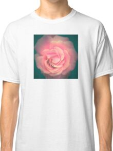 Pink with Teal Rose Classic T-Shirt