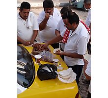 Mexican breakfast - taxi drivers Photographic Print
