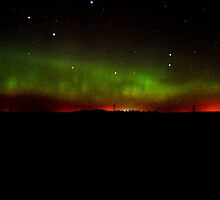 Northern Lights north of Almont, ND by codyathomas
