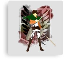 Eren Jaeger paper cut-out and The Wings of Freedom Canvas Print