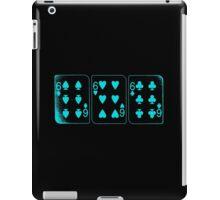 666 Cards - Cyan iPad Case/Skin