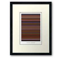 The Big Lebowski - Movie Poster - The Colors Of Motion Framed Print
