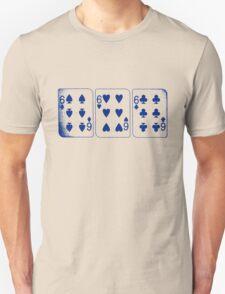 666 Cards - Blue Unisex T-Shirt