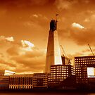 The Shard under construction, from London's north bank by Chris Millar