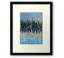 Beach Reflections Framed Print