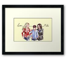 Swan Mills Family (Once Upon a Time) Framed Print