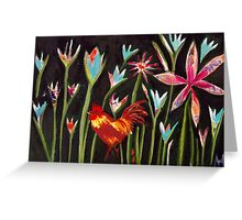 Jungle Rooster #2 Greeting Card