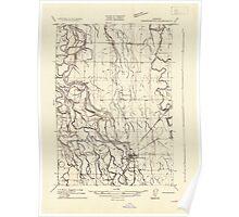 USGS Topo Map Oregon Harrisburg 282176 1909 31680 Poster