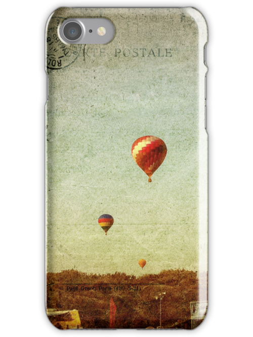Textured Balloons - iPhone Case by Colleen Drew
