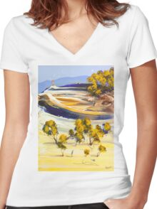 Catching the wind Women's Fitted V-Neck T-Shirt