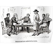 Achille Sirouy Mark Twain Les Aventures de Huck Huckleberry Finn illustration p197 Poster