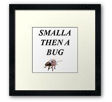 Smalla Then a Bug Framed Print