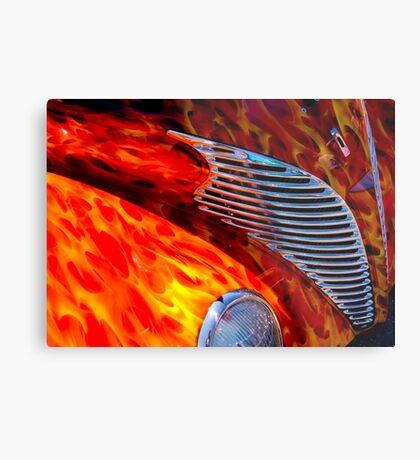 Street Rod Flames Metal Print
