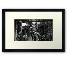 ~ Degraves Street Melbourne in B&W ~ Framed Print