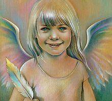 Angel of a rainbow. by Elena Makarova-Levina