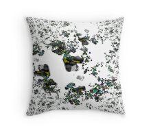Falling Leaves Fractal Design Throw Pillow