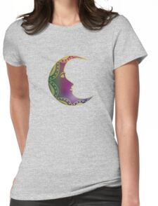 Moon Womens Fitted T-Shirt