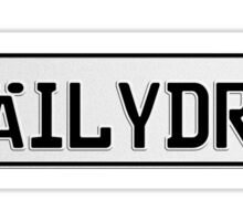 Euro plate - dailydrvn Sticker