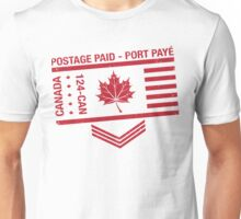 Postage Paid Canada Unisex T-Shirt