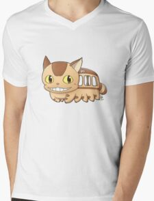 Nekobus Mens V-Neck T-Shirt