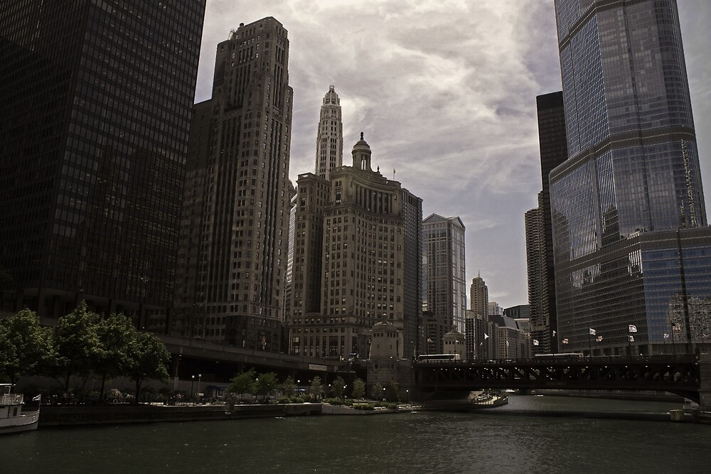 Michigan River_Chicago by Chris Diebold