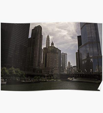 Michigan River_Chicago Poster