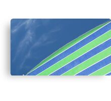 Blue Green & White Canvas Print